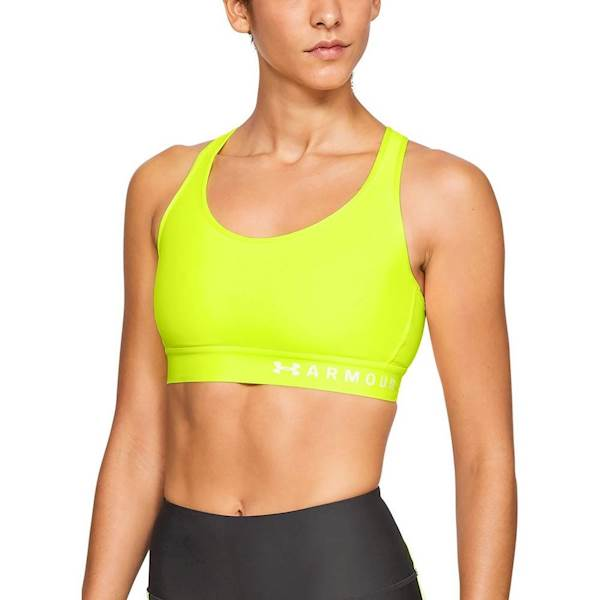 Bielizna damska Under Armour Mid Kehole Bra Yellow