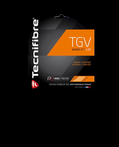Naciąg tenis ziemny Tecnifibre TGV 1,30mm (PU) Czarny