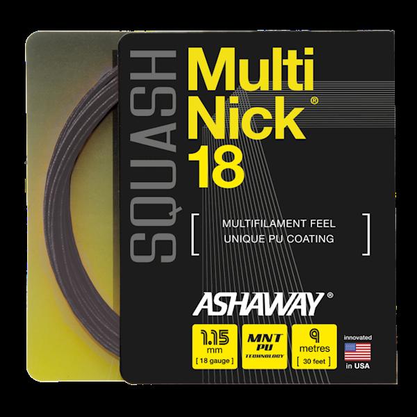 Naciąg do squasha Ashaway MultiNick 18 Czarny SET 9m