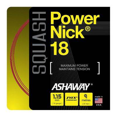 Naciąg do squasha Ashaway PowerNick 18 ZYEX 1,15mm Czerwony SET 9m