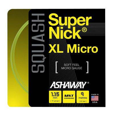 Naciąg do squasha Ashaway SuperNick XL Micro 1,15mm Yellow SET 9m