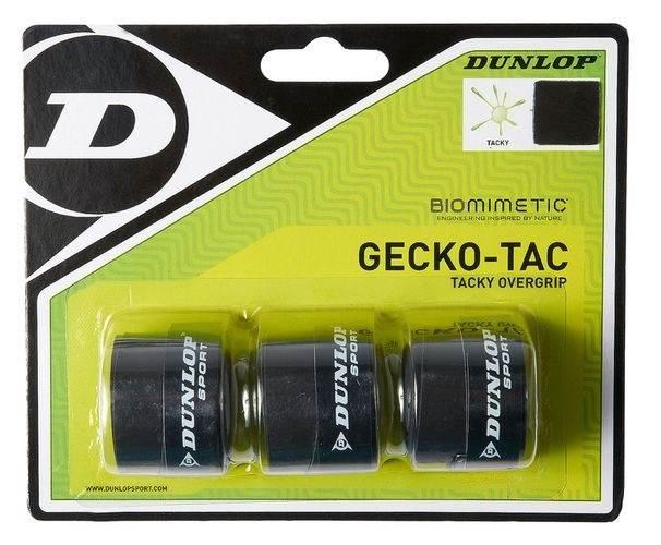 Owijka zewnętrzna Dunlop Gecko-Tac Overgrip X3 Czarny