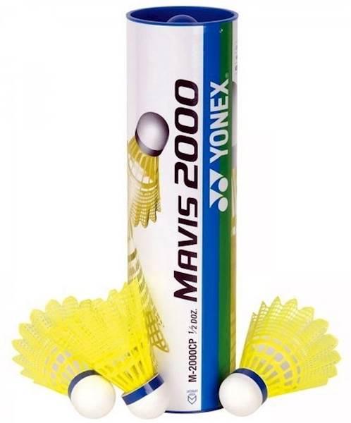 Lotki nylonowe Yonex Mavis 2000 | średnie (niebieski kapsel) | Żółty