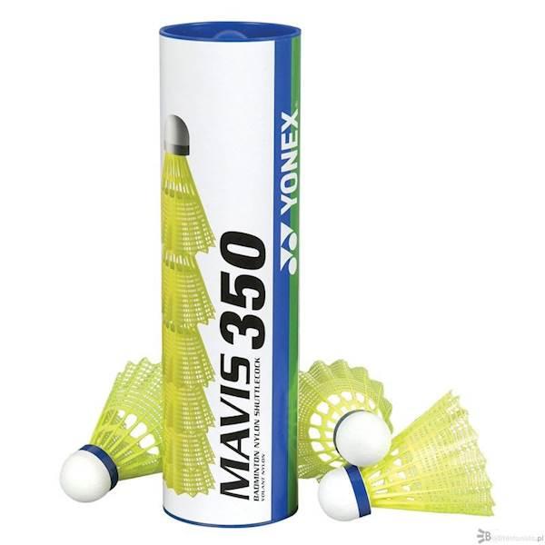 Lotki nylonowe Yonex Mavis 350 | średnie (niebieski kapsel) | Żółty