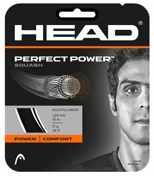 Naciąg do squasha Head Perfect Power Black