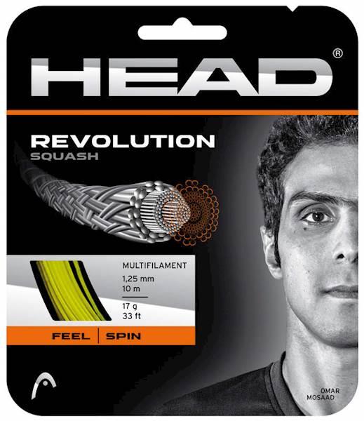 Naciąg do squasha Head Revolution Yellow 1.25mm