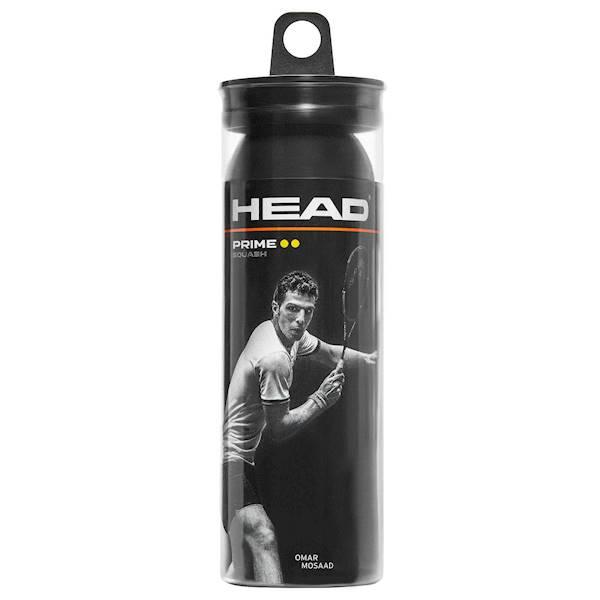 Piłki do squasha Head Squash 3-Ball Tube Prime (2 kropki żółte)