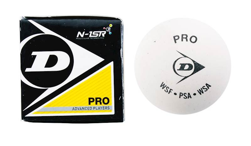 Piłka do squasha Dunlop Pro Championship biała (kort szklany)