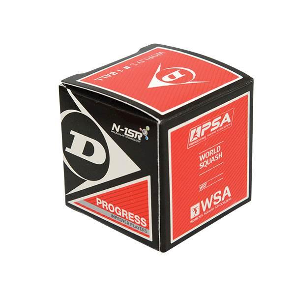 Piłka do squasha Dunlop Progress (1 kropka czerwona)