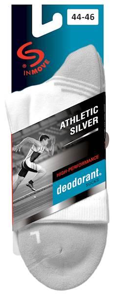Skarpety Inmove Athletic Silver Deodorant Czarny/Antracytowy   41-43