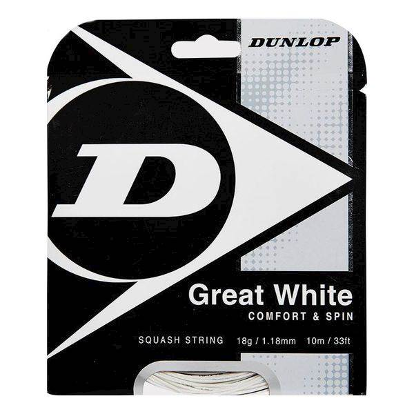 Naciąg do squasha Dunlop Biomimetic Great White SET 10m