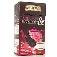 BIG-ACTIVE 80G,HERB:LIŚĆ CZARNA EARL GREY RÓŻA/12