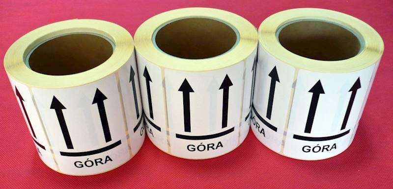 Etykiety 104x74  STRZAŁKI GÓRA 500szt