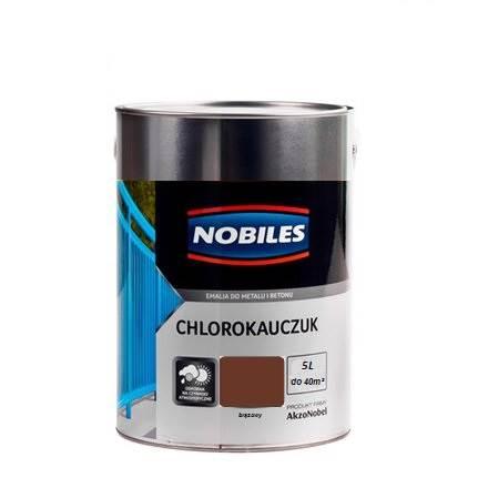 NOBILES Emalia chlorokauczukowa brązowy 5L
