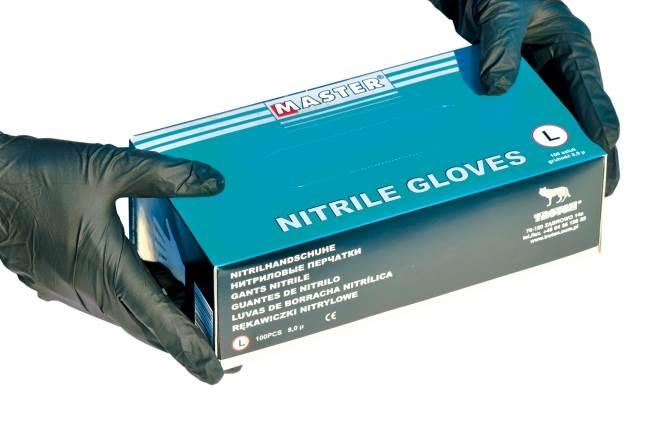 TROTON Rękawice nitrylowe czarne