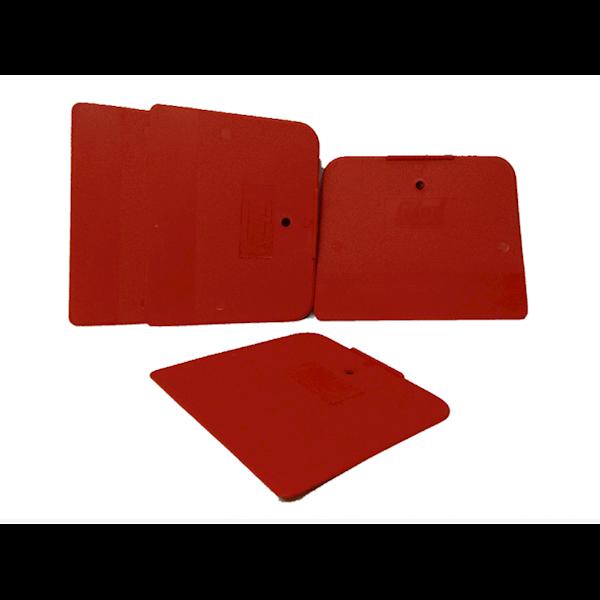 COLAD Szpachelka z tworzywa Czerwona 120 mm x 90mm