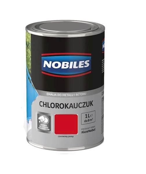 NOBILES Emalia chlorokauczukowa czerwony jasny 1L