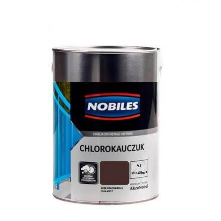 NOBILES Emalia chlorokauczukowa brąz czekoladowy 5L
