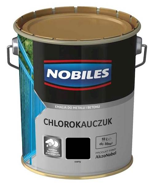 NOBILES Emalia chlorokauczukowa czarna 10L