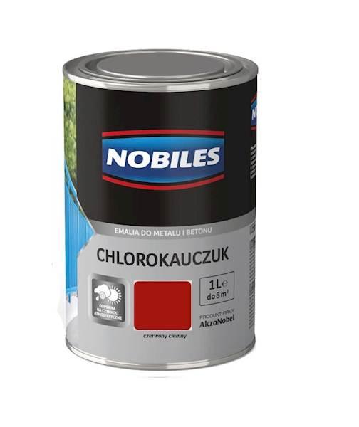 NOBILES Emalia chlorokauczukowa czerwona ciemna 1L