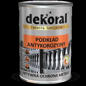 DEKORAL Podkład antykorozyjny - szary jasny 0,9L