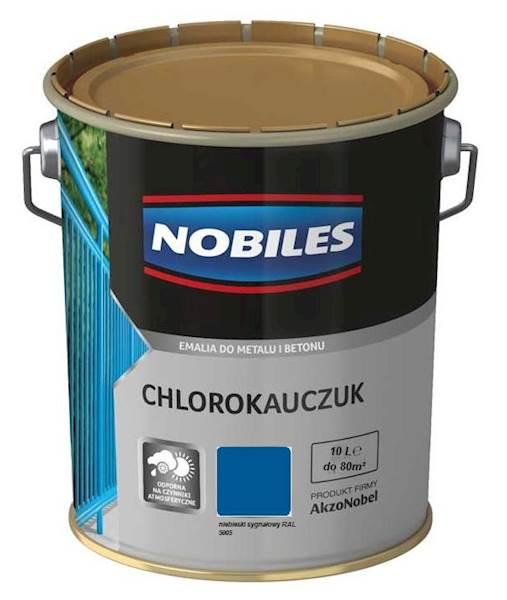 NOBILES Emalia chlorokauczukowa niebieska RAL 5005 10L