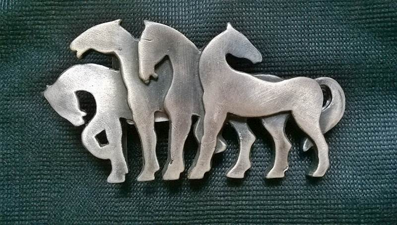 Klamra do paska 4 konie