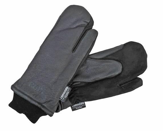 Rękawiczki z.Thinsulate 3palce 10 czarne
