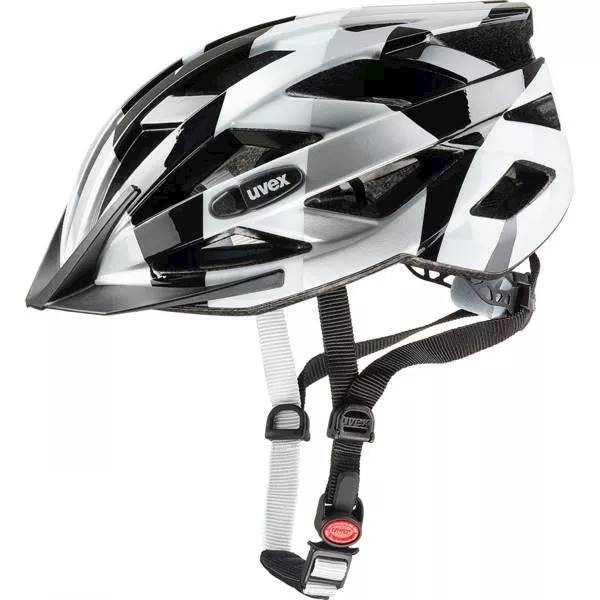 KASK ROWER. UVEX AIR WING 52-57CM BLACK/WHITE