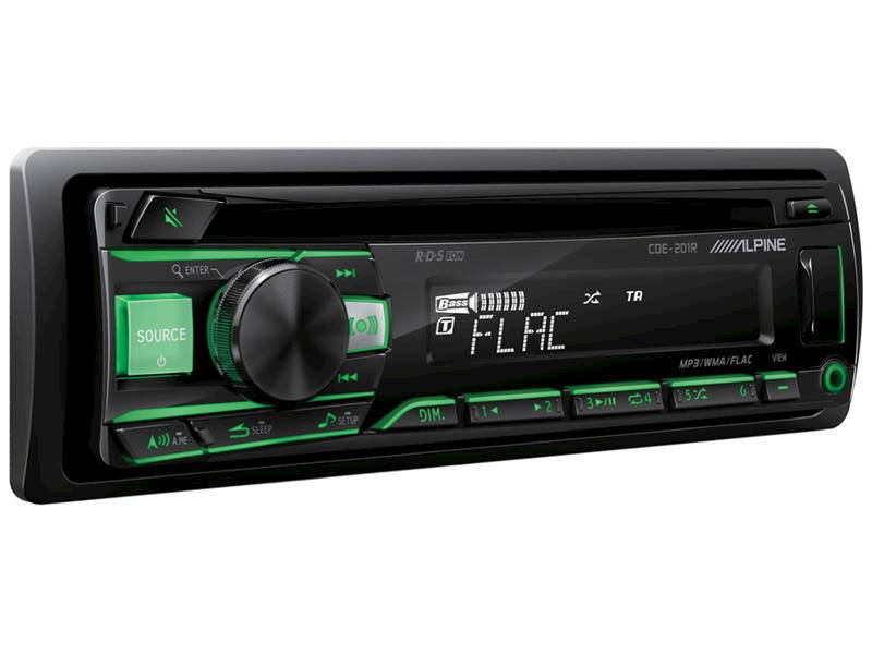 ALPINE CDE-201R - radio / podśw. zielone/czerwone / USB / AUX / CD