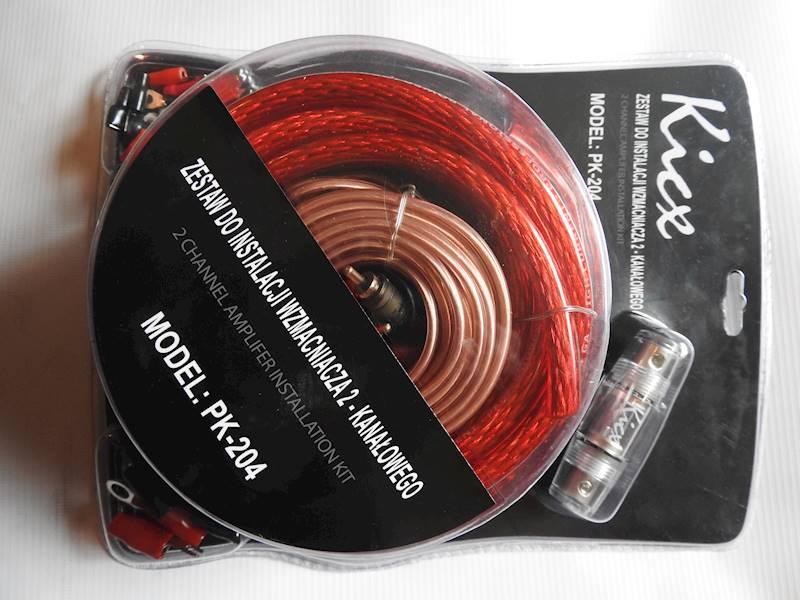 KICX PK-204 - zestaw kabli do montażu wzmacniacza