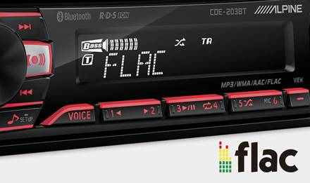 ALPINE CDE-203BT - radio / multikolor / USB / AUX / CD / Bluetooth