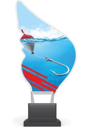 plexi CP01 wędkarstwo wys. 21 cm