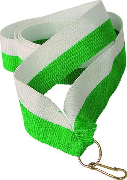 wstążka biało/zielona szer. 2 cm