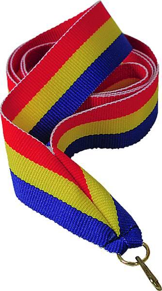 wstążka czerwono/żółto/niebieska 1 cm