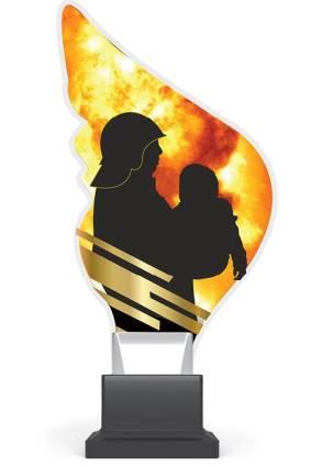 plexi CP01 straż pożarna wys. 21 cm