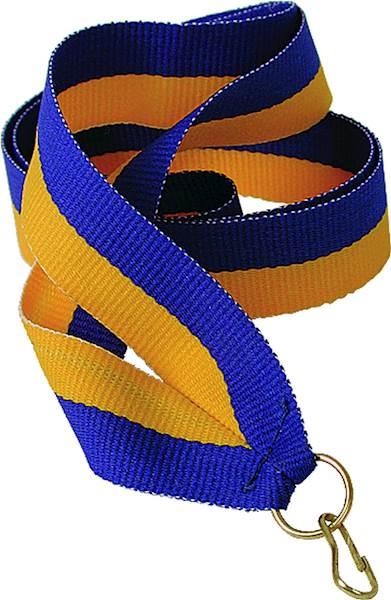 wstążka żółto/niebieska 1 cm