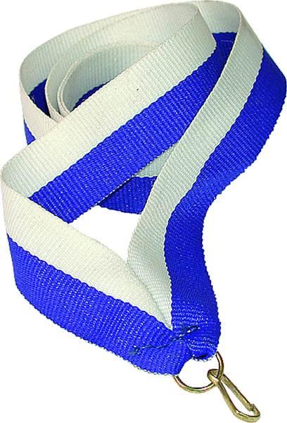 wstążka biało/niebieska 1 cm