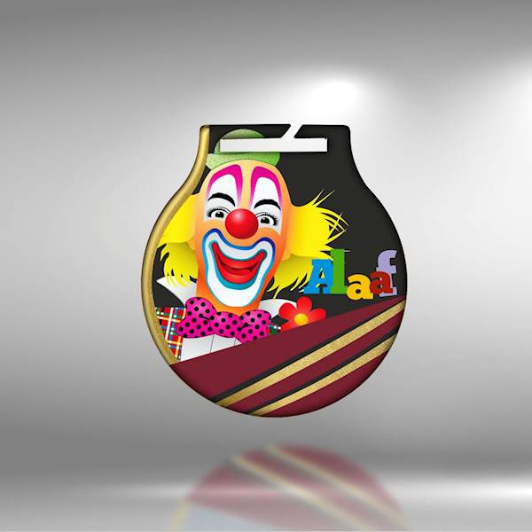 medal 50 mm - clown