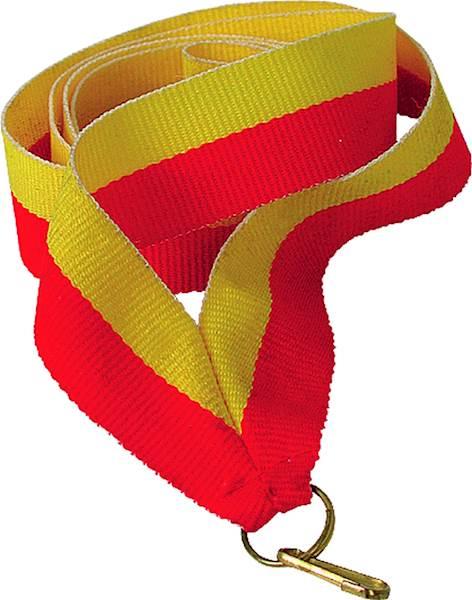 wstążka żółto/czerwona. 2 cm