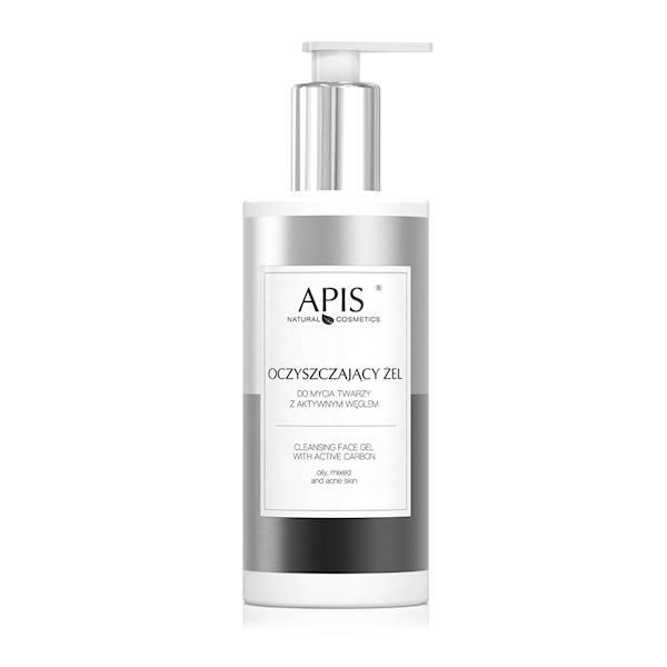 53605 Oczyszczający żel do mycia twarzy z aktywnym węglem, 300 ml