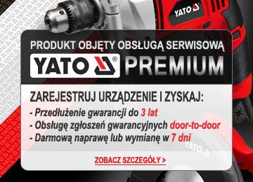 3 lata gwarancji door-to-door w Serwisie Yato Premium!