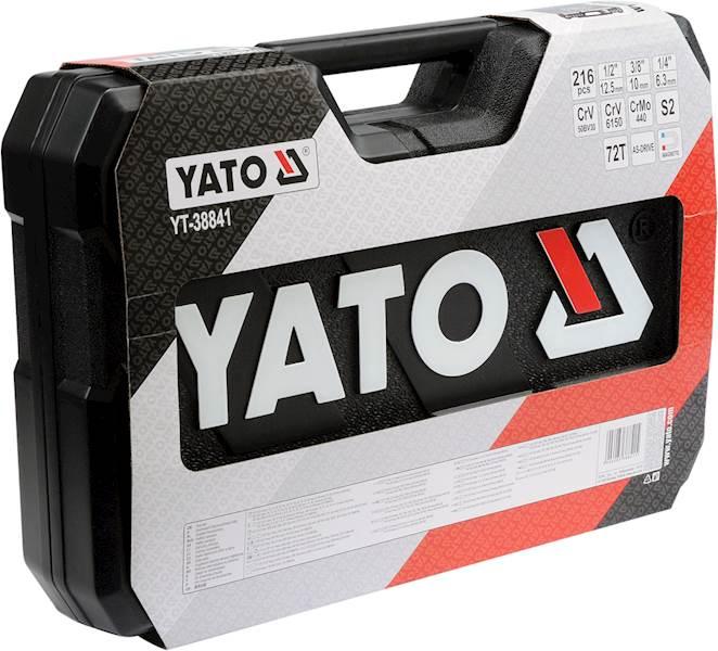 """ZESTAW NARZĘDZIOWY 1/4"""", 3/8"""" 1/2"""" 216 CZĘŚCI XXL YT-38841 YATO"""