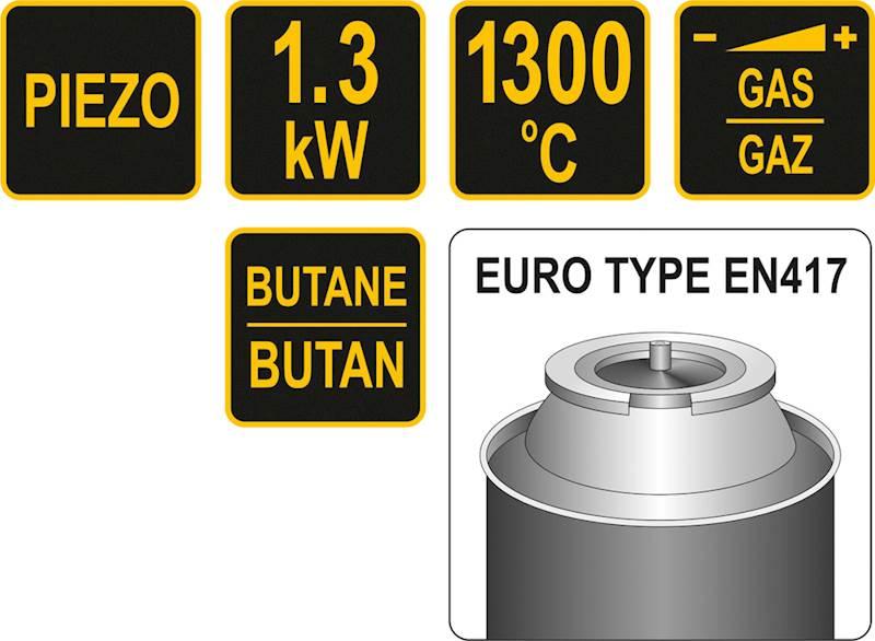 PALNIK GAZOWY DO LUTOWANIA Z PIEZO TYPU. TWIST 1.3 kW 73413 VOREL