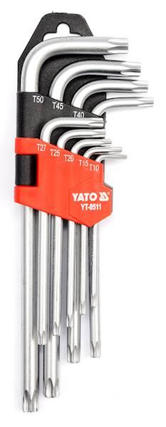 KLUCZE IMBUSOWE TORX T10 - T50, 9CZ. YT-0511 YATO