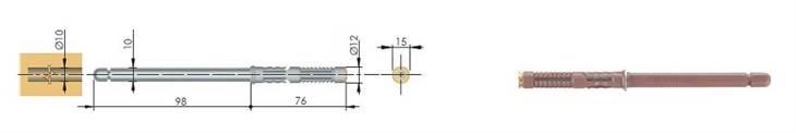 Ukryty wspornik do półki 10x98mm