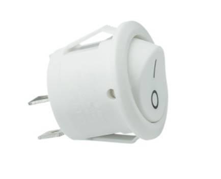 Przełącznik kołyskowy okrągły, biały