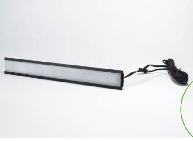 Profil Aluminiowy PAL 1, Czarne aluminium L-2000 + Klosz matowy