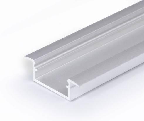 TM-profil LED Begtin srebrny anodowany, klosz mleczny, 2000mm