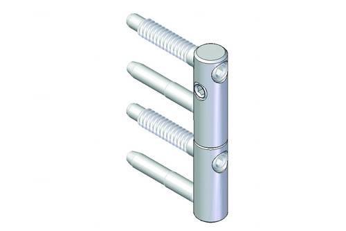 Zawias SZ 82 średnica 16mm, ocynk biały